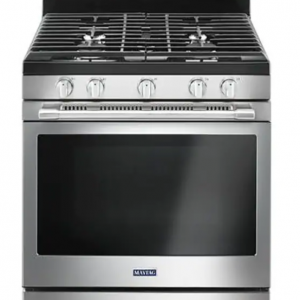 maytag stainless steel gas range