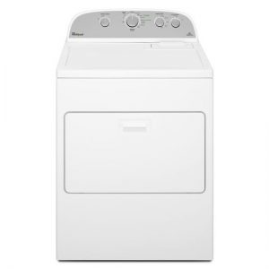 whirlpool large capacity dryer white