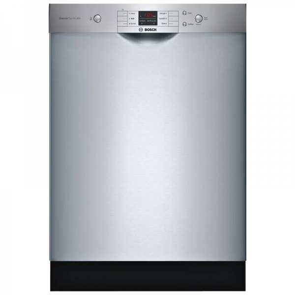 Bosch Ascenta Series 24 Dishwasher with 6 Wash Cycles & Front Controls - Stainless Steel - WITH A 5 YEAR WARRANTY