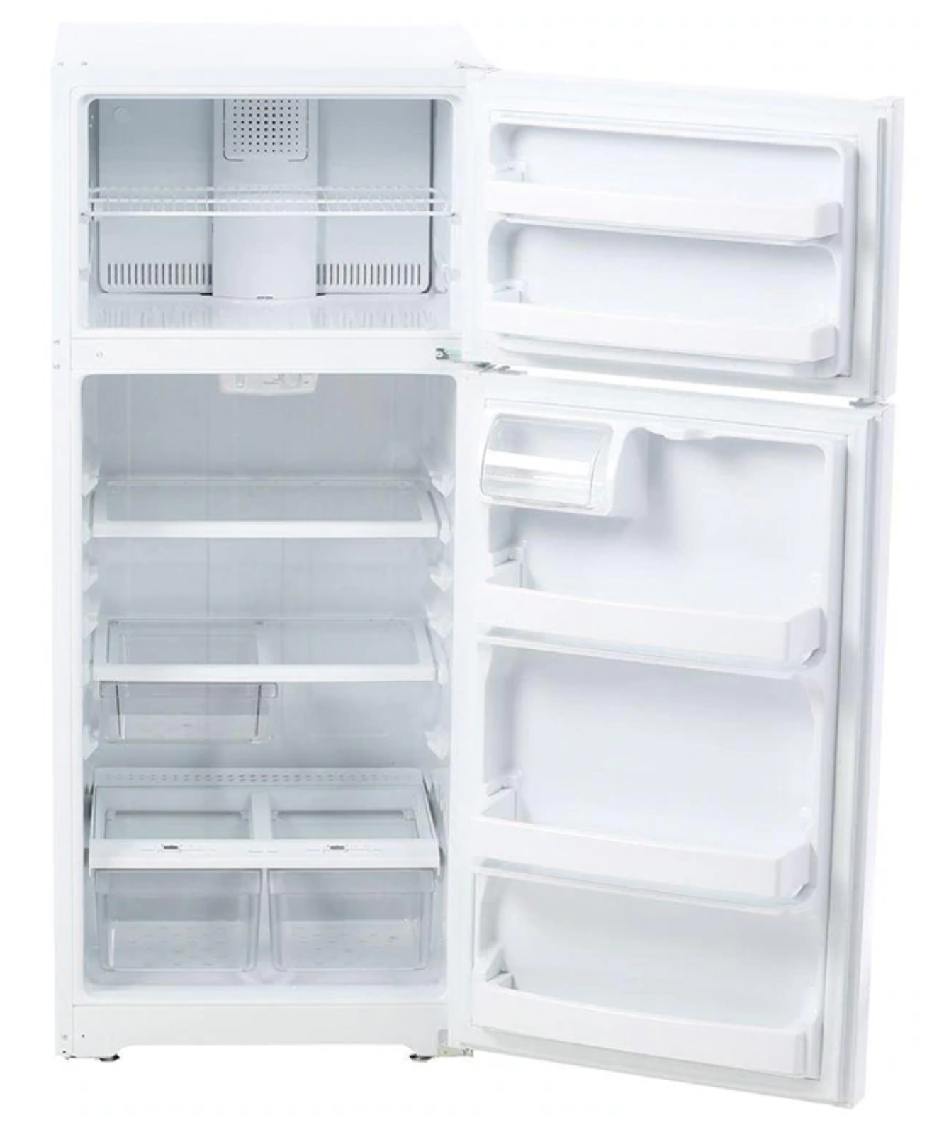 Ge 28 Quot Top Freezer Refrigerator White With 4 Year Warranty
