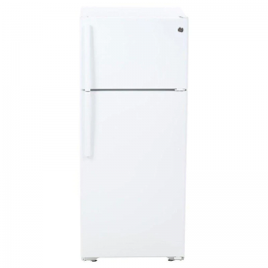 WHITE GE TOP FREEZER REFRIGERATOR