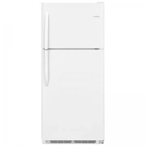 frigidaire white top-freezer refrigerator
