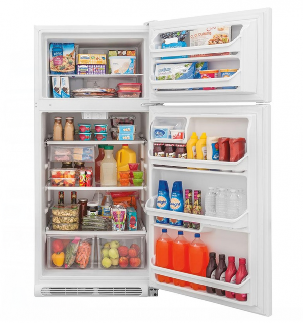 white top freezer refrigerator