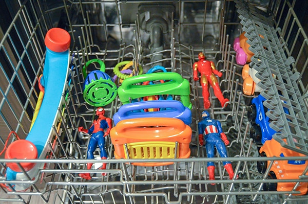 how to clean toys in the dishwasher